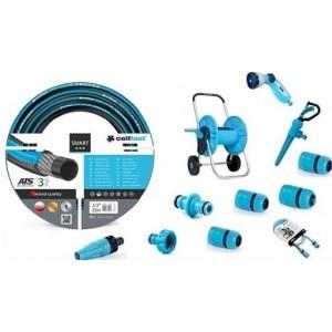 Cellfast Zestaw Wąż Smart 1/2 50m + Wózek +Złączki