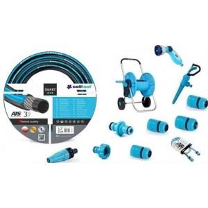 Cellfast Zestaw Wąż Smart 1/2 25m + Wózek +Złączki
