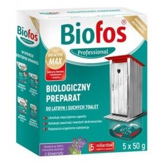 Biofos Saszetki do latryn i suchych toalet 250g