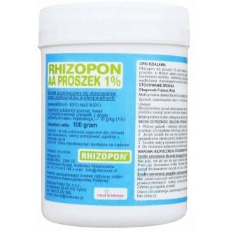 Ukorzeniacz do zielonych Rhizopon 1% 100g hormon