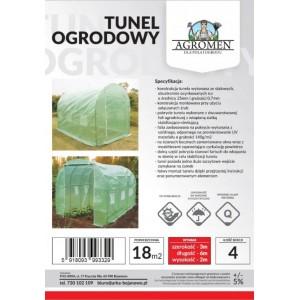 Tunel Foliowy Ogrodowy Szklarnia 6x3x2m 18m2