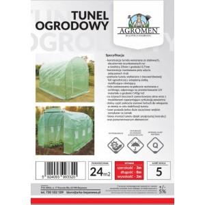 Tunel Foliowy Ogrodowy Szklarnia 8x3x2m 24m2