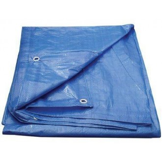 Plandeka Niebieska 10x15 Wzmacniana 60g/m2
